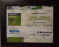 "Techcello Wins NASSCOM – Emerge ""League Of 10"""