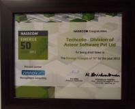"Techcello Wins NASSCOM – Emerge ""League Of 10″"